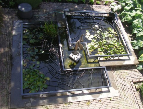 Veilige vijver met design vijverrooster